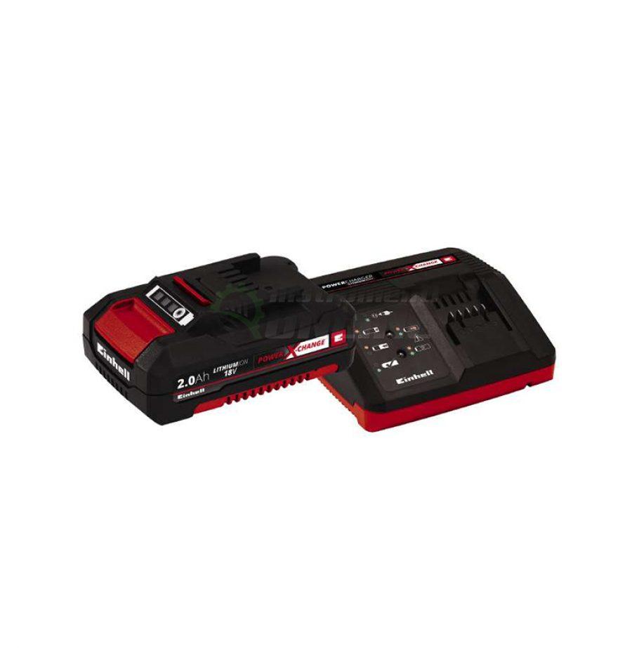 стартов, комплект, Power X-Change, 18 V / 2,0 Ah, зарядно, устройство, 18 V / 30 min, акумулаторна, батерия, 18 V / 2000 mAh