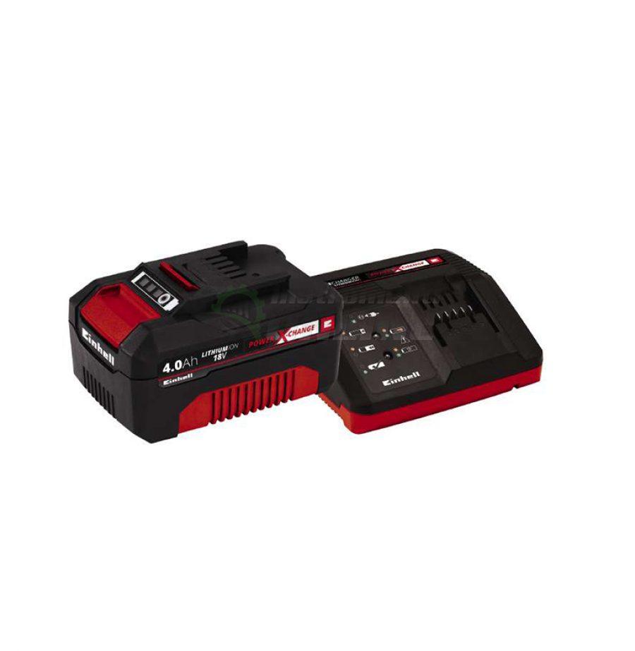стартов, комплект, Power X-Change, 18 V / 4,0 Ah, зарядно, устройство, 18 V / 30 min, акумулаторна, батерия, 18 V / 4000 mAh