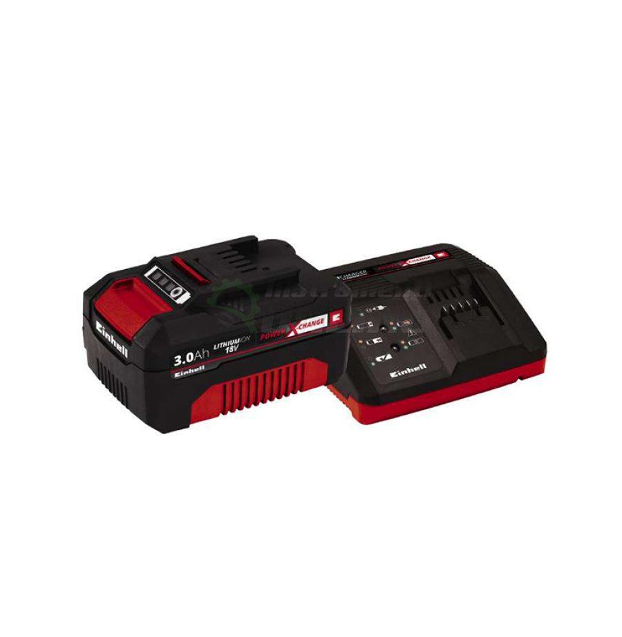 стартов, компплект, Power X-Change, 18 V / 3,0 Ah, зарядно, устройство, 18 V / 30 min, акумулаторна, батерия, 18 V / 3000 mAh