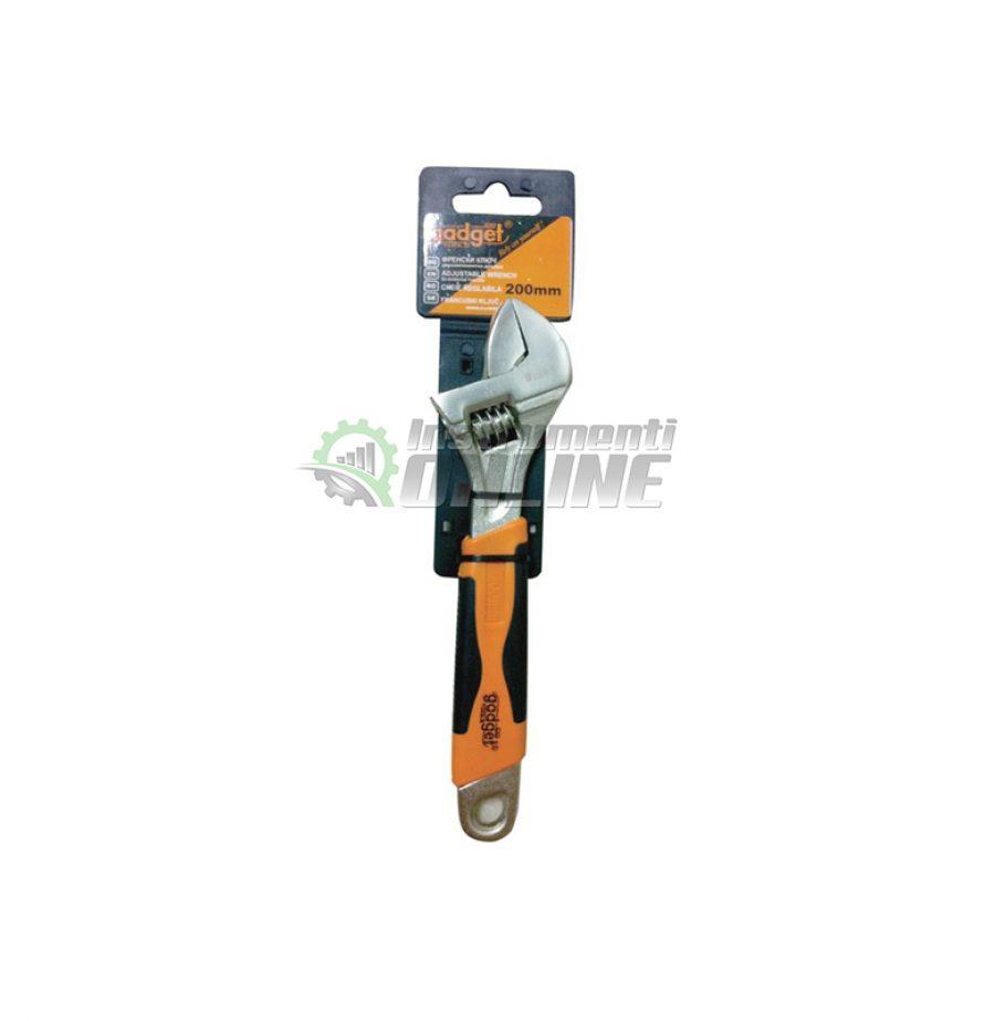 Френски ключ, двукомпонентна дръжка, 200 мм, Gadget