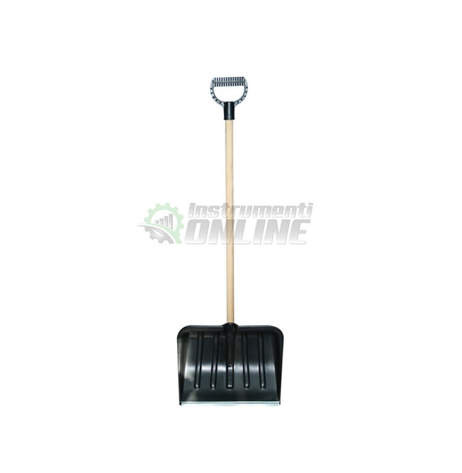 Гребло за сняг, гребло, гребло 40 см., гребло с дръжка, метална лайсна, Top Garden