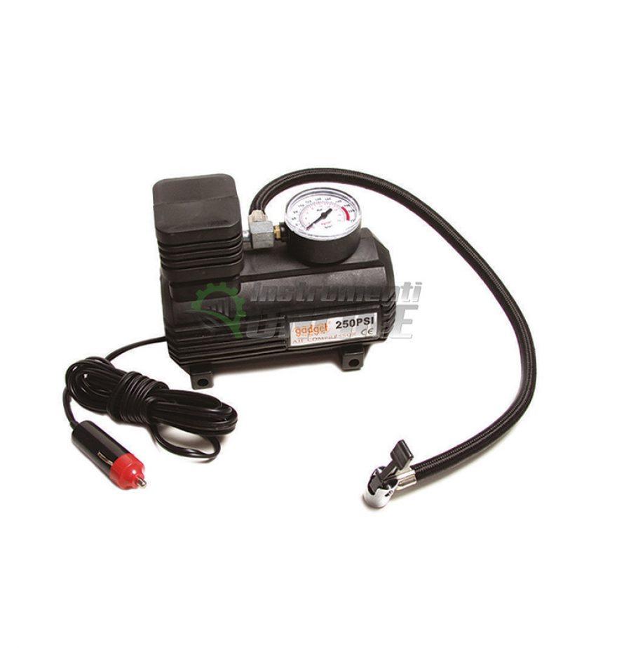 Компресор с манометър, компресор за помпане на гуми, компресор 12 V, Gadget