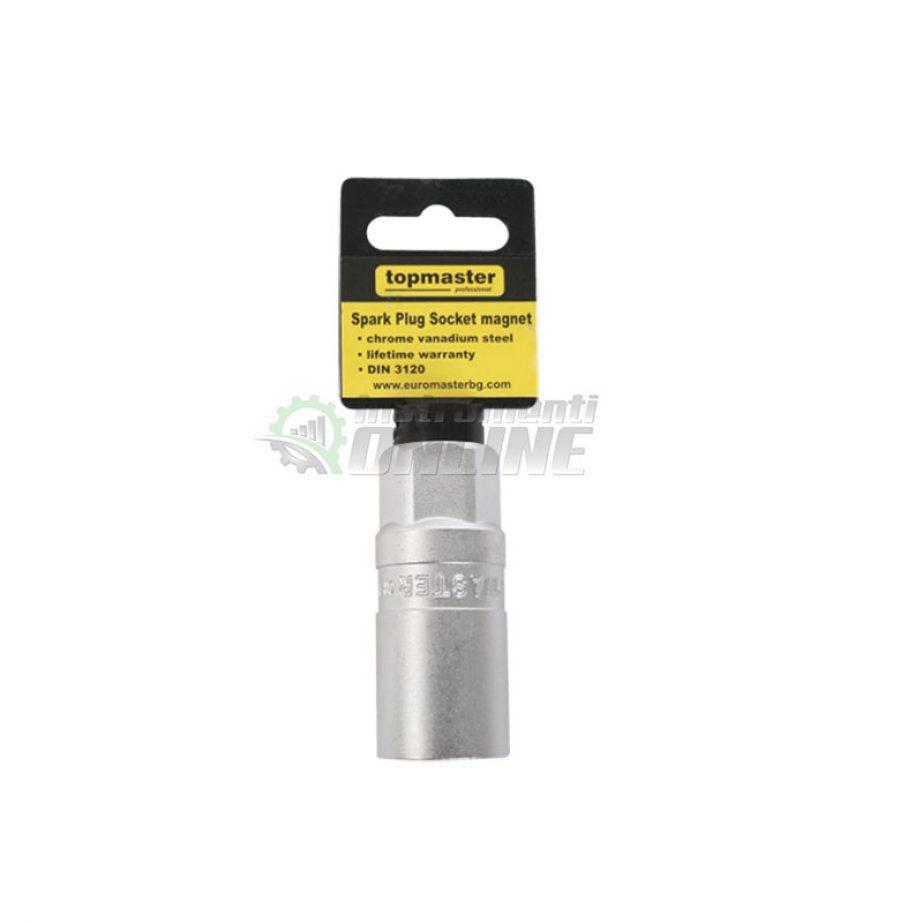 12 стенна, вложка, за, свещи, магнит, 1/2″, 21 мм, CR-V, Topmaster, Professional