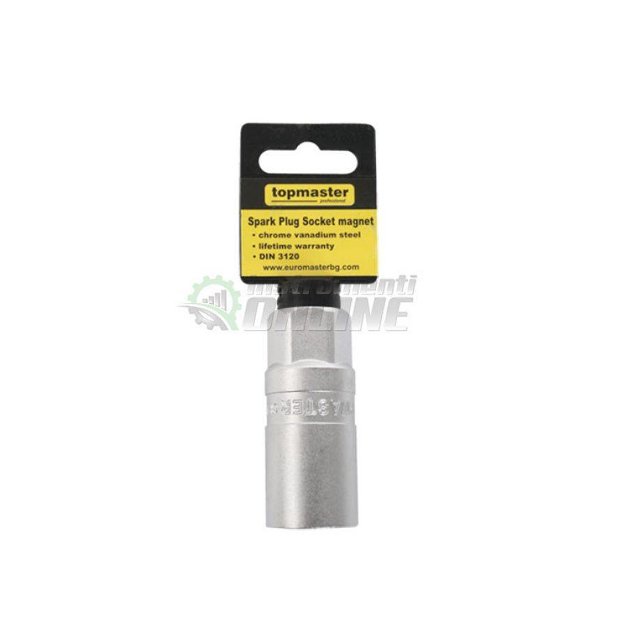 6 стенна, вложка, за, свещи, магнит, 1/2″, 21 мм, CR-V, Topmaster, Professional