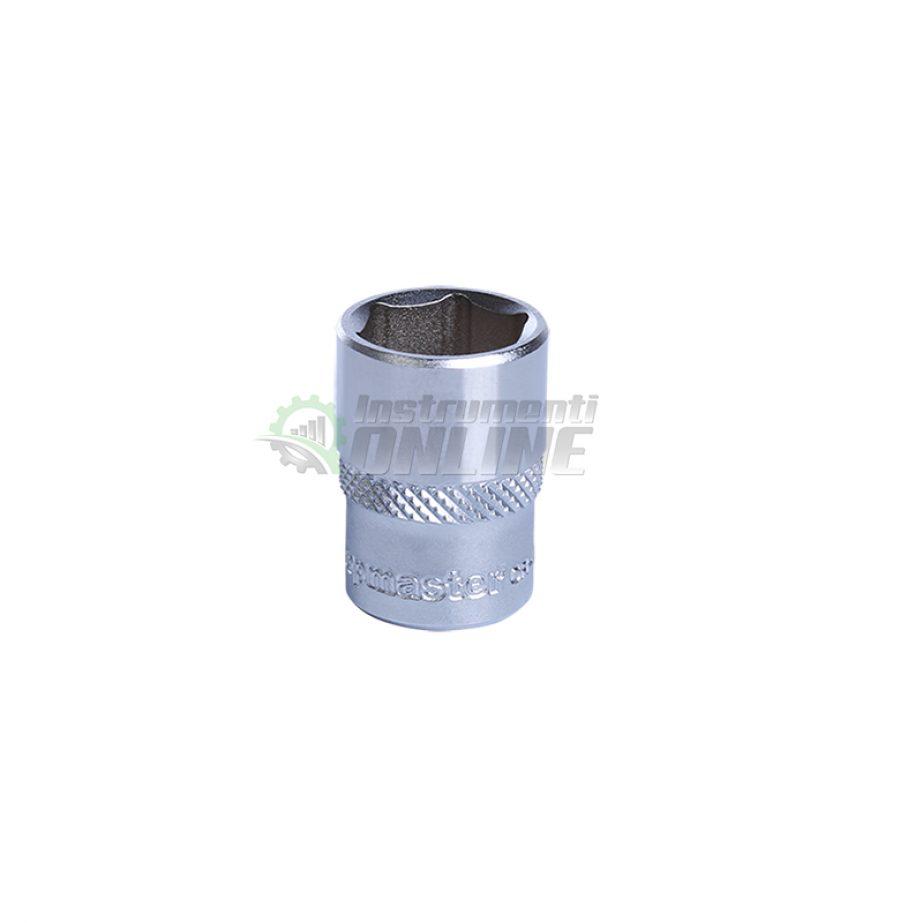 Къса, 6 стенна, вложка, 1/4, 10 мм, CR-V, Topmaster, Profession
