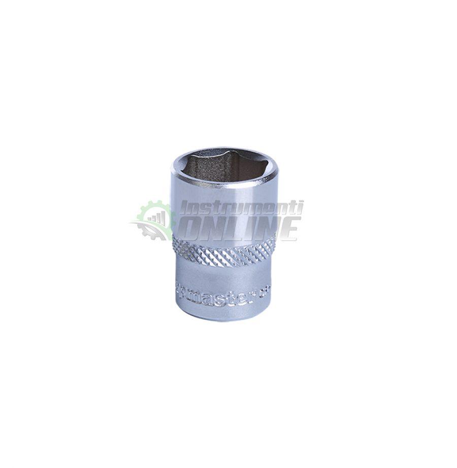 Къса, 6, стенна, вложка, 1/4, 13 мм, CR-V, Topmaster, Professional