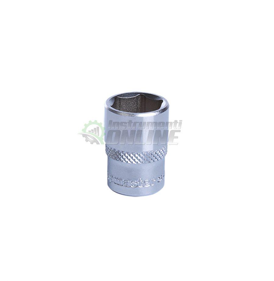 Къса, 6 стенна, вложка, 1/4, 6 мм, CR-V, Topmaster, Professional