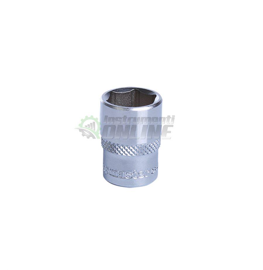 Къса, 6 стенна, вложка, 1/4, 7 мм, CR-V, Topmaster, Professional