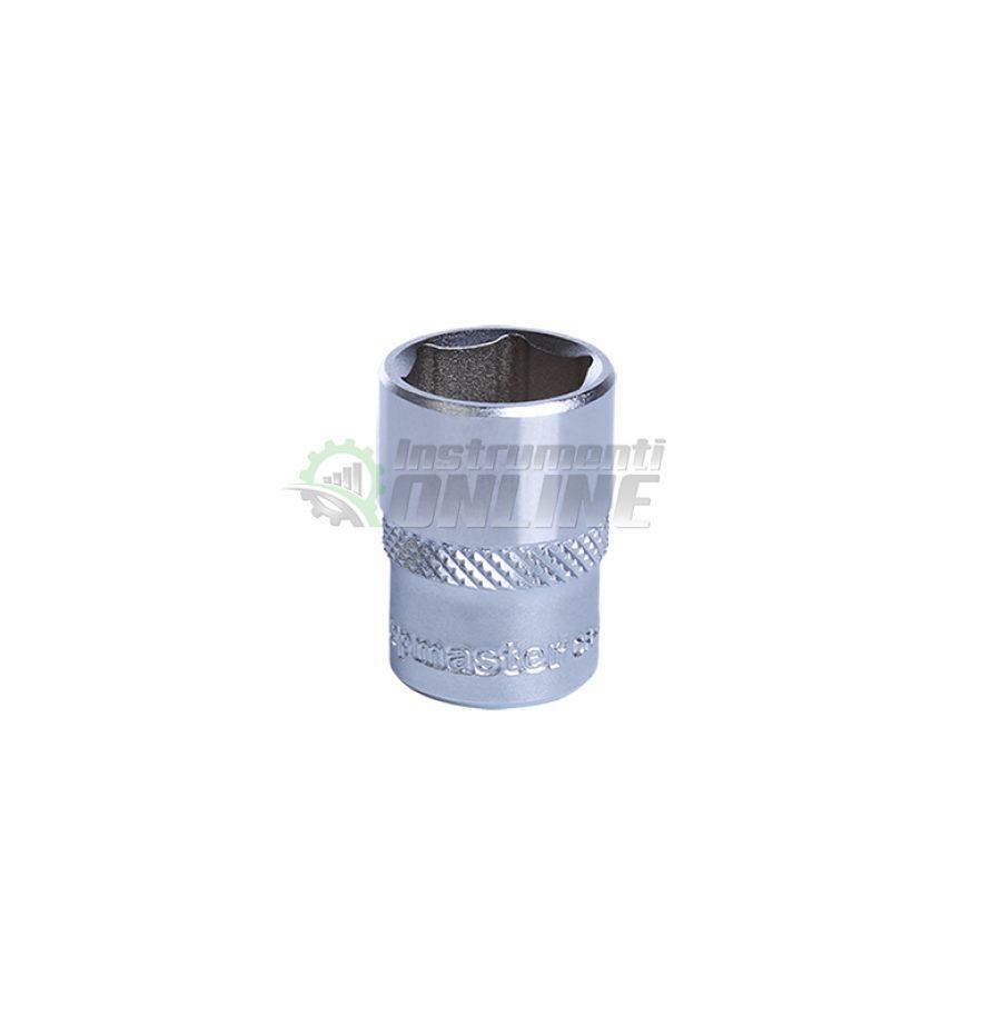 Къса, 6 стенна, вложка, 1/4, 8 мм, CR-V, Topmaster, Professional