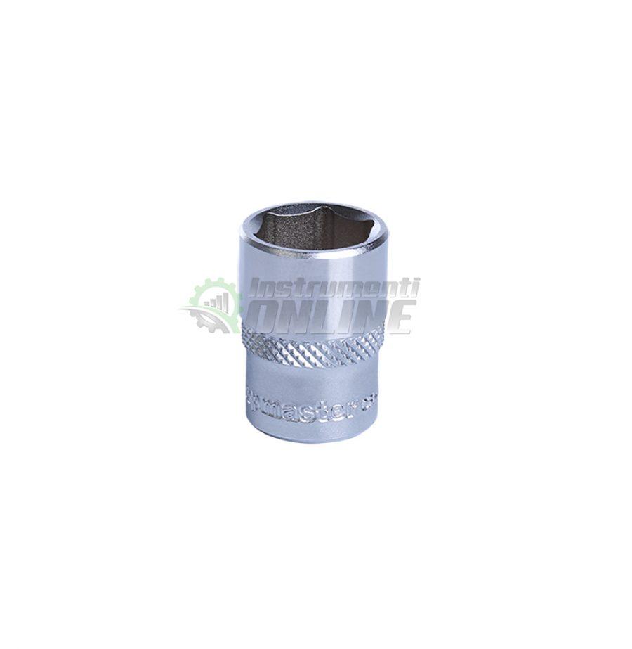 Къса, 6 стенна, вложка, 1/4, 9 мм, CR-V, Topmaster, Professional