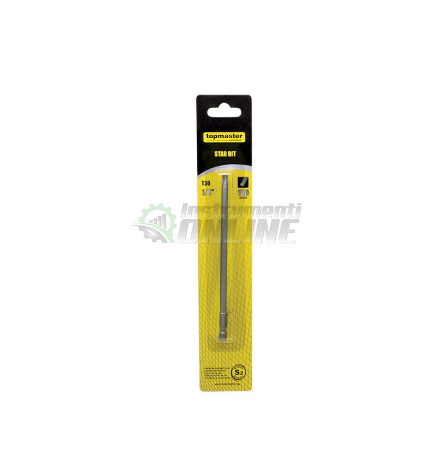 Накрайник, TORX, 1/4 мм, T10, L150 мм, Topmaster, Professional