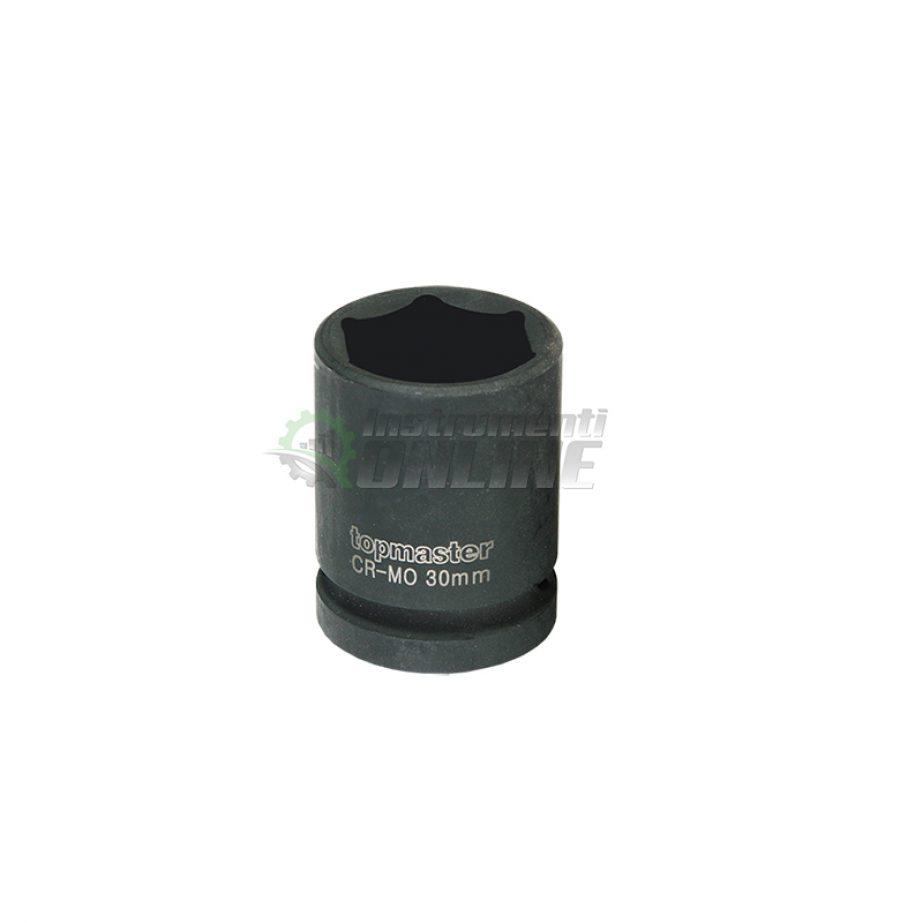Ударна, 6 стенна, вложка, 1/2″, 30 мм, CR-MO, Topmaster, Professional