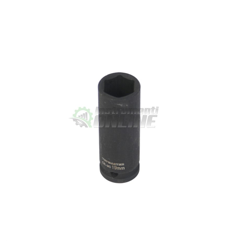 Ударна, удължена, вложка, 1/2″, 19 мм, CR-MO, Topmaster, Professional