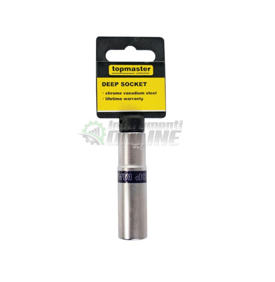 Удължена, 6, стенна, вложка, 3/8″, 14 мм, CR-V, Topmaster, Professional
