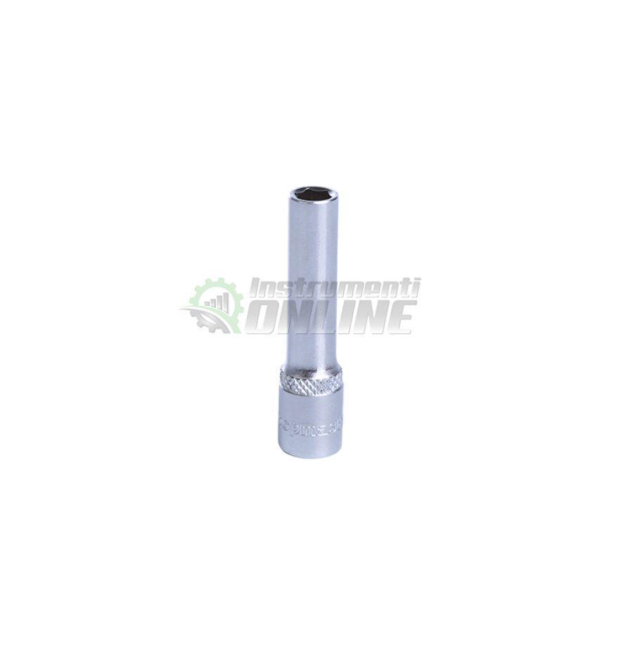 Удължена, 6, стенна, вложка, 5.5 мм, 1/4″, CR-V, Topmaster, Professional