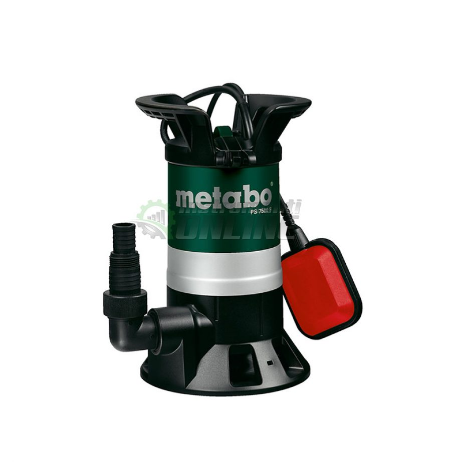 Дренажна, помпа, потопяема помпа, Дренажна помпа, 450W, Metabo, PS 7500 S