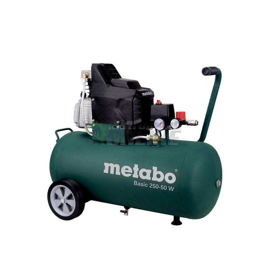 компресор, Компресор за въздух, 50 литра, 1,50 kW, Metabo, BASIC, 250-50 W