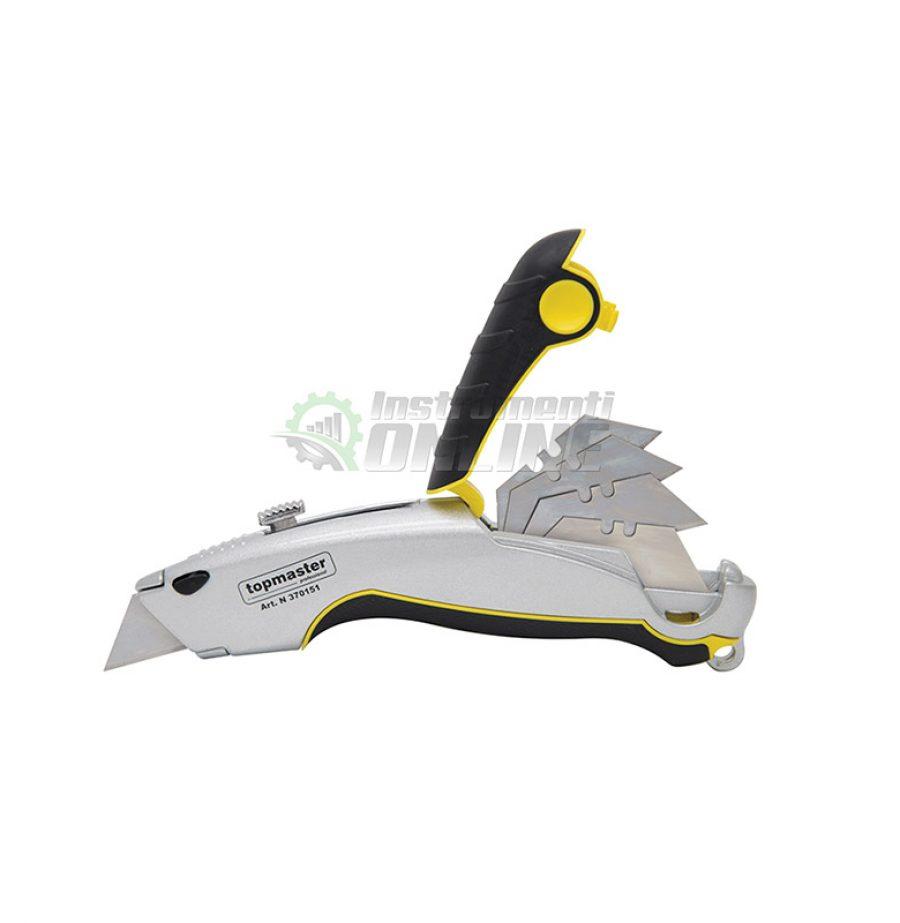 макетен нож, Нож, макетен, трапецовидни ножчета, 5 ножчета, Topmaster, Professional
