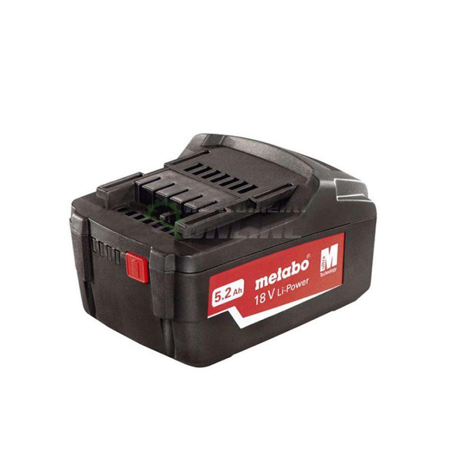 Акумулаторна батерия, Акумулаторна, батерия, 18.0V, 5.2Ah, Li-Power, Metabo