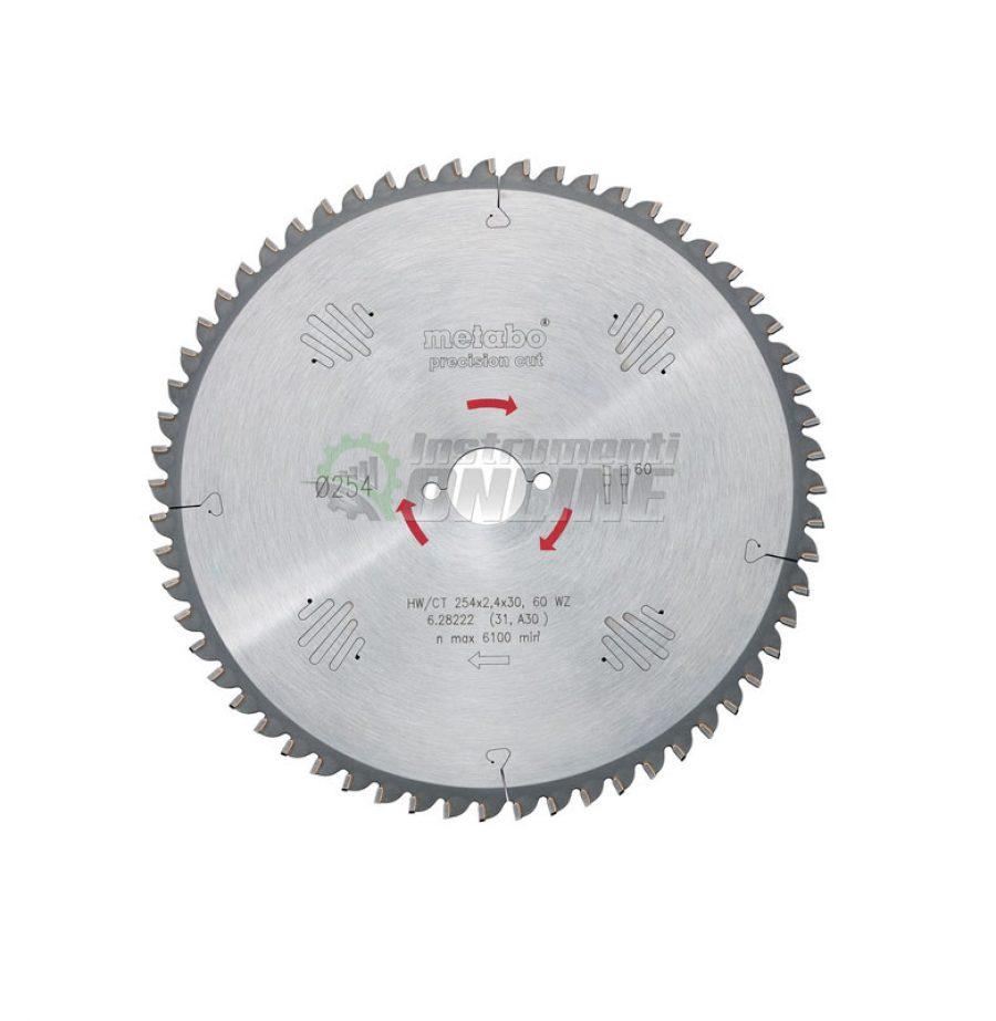 Диск за циркуляр 315 х 2.4 х 30 мм 84 WZ 5° neg.