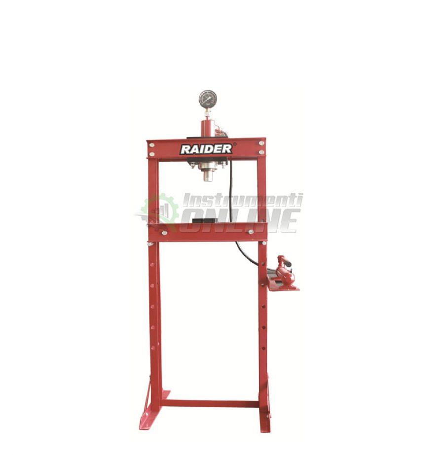 Хидравлична, преса, манометър, 20 тона, RD-HP04, Raider, хидравлична преса