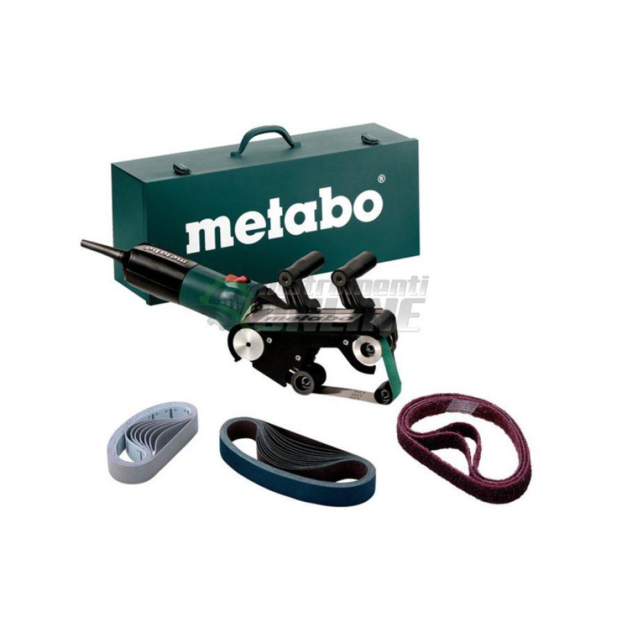 шлайф, лентов, Комплект шлайф, лентов шляйф, шлайф за тръби, 900 W, 30 x 533 мм, METABO, RBE 9-60 Set
