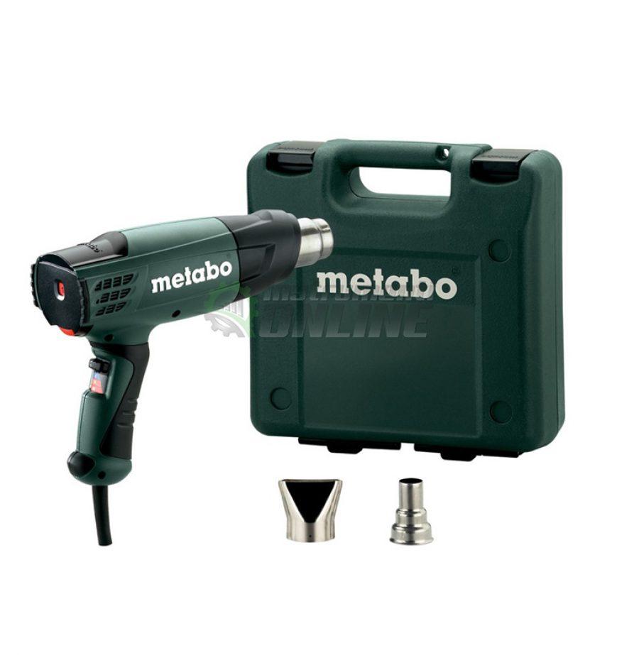 Пистолет, горещ въздух, куфар, дюзи, 2000 W, Metabo, H 20-600