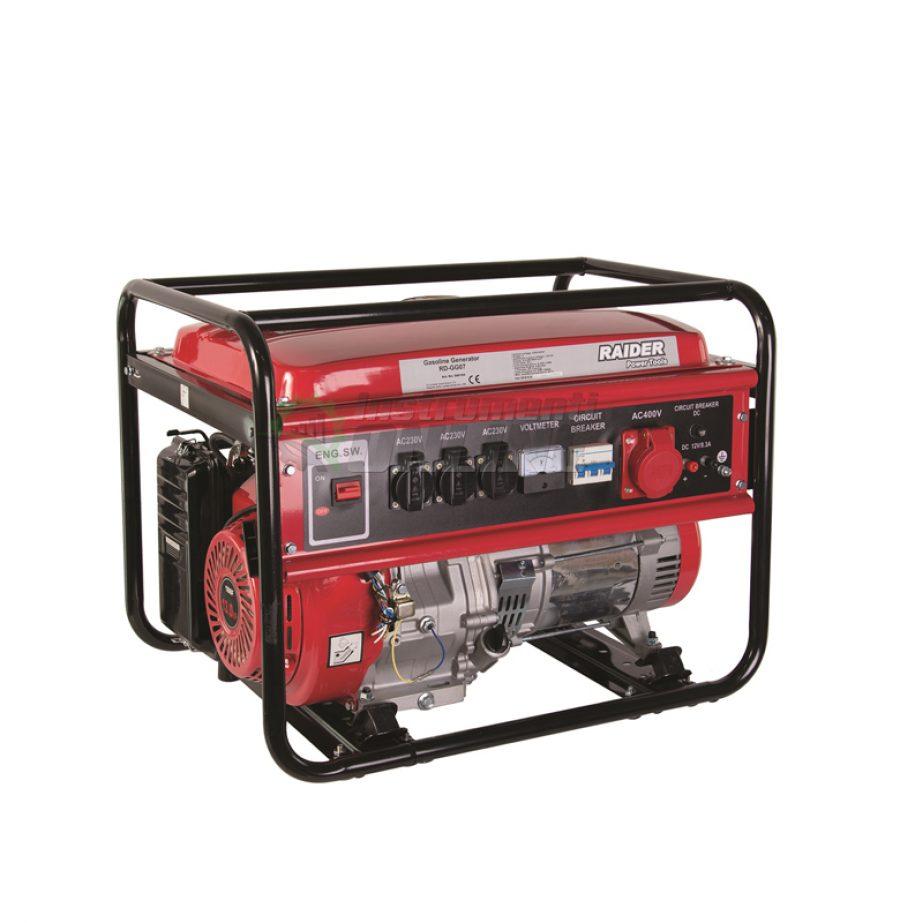 Бензинов, генератор за ток, 5kW, 230V & 380V, RD-GG07, Raider, генератор, бензинов генератор
