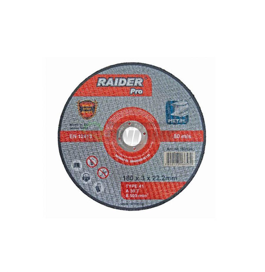 Диск за метал, диск за ъглошлайф, диск raider, 115 х 3.0 х 22.2 мм, Raider, rdp