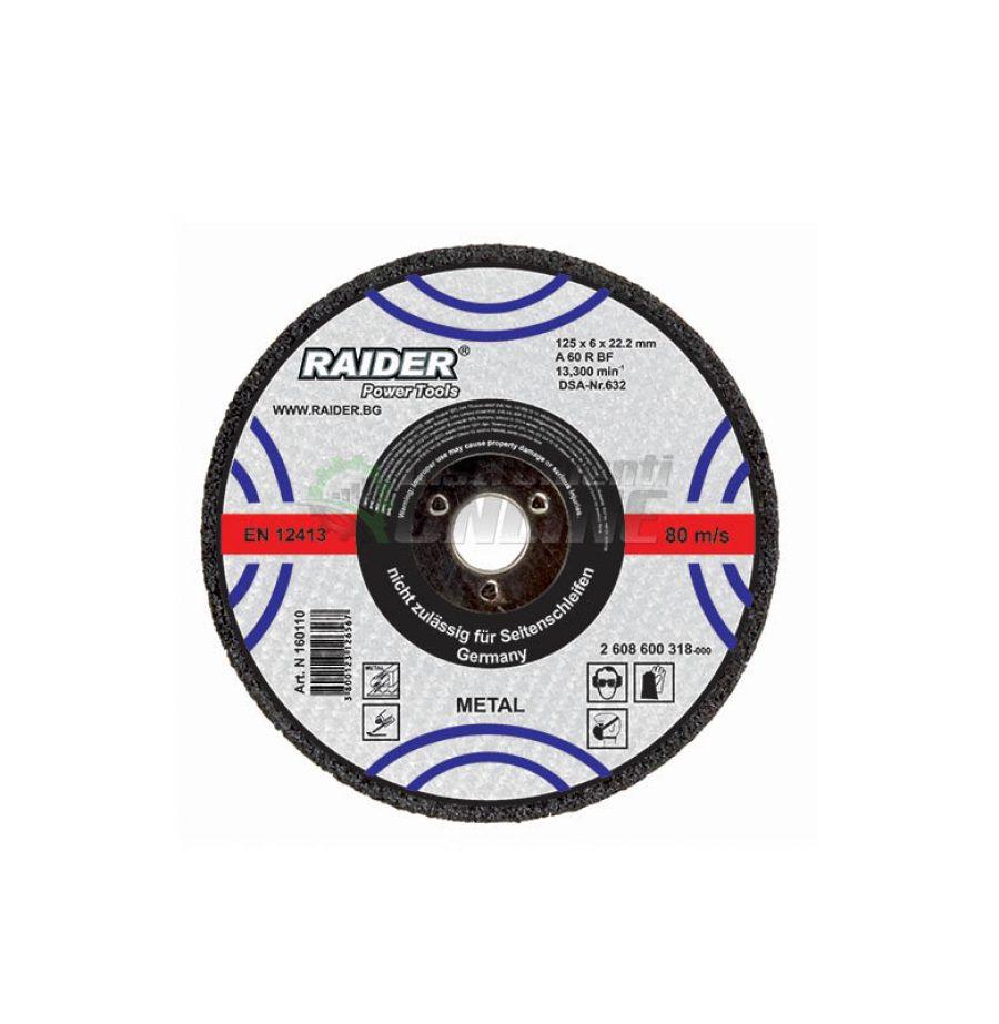 Диск за метал, диск за ъглошлайф, диск raider, 180 х 2,0 х 22,2 мм, Raider