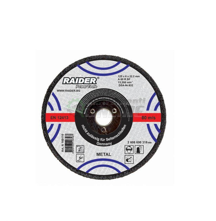 Диск за метал, диск за ъглошлайф, диск raider, 230 х 3.2 х 22.2 мм, Raider