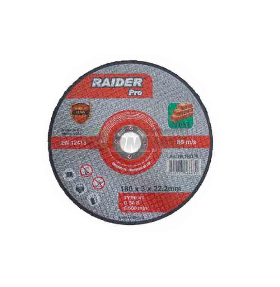 Диск за неметал, диск за ъглошлайф, диск raider, 115 х 3.0 х 22.2 мм мм мм, Raider, RDP