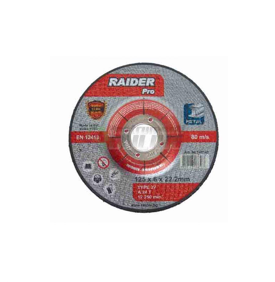 Диск за метал, диск за ъглошлайф, диск raider, 180 х 6.0 х 22.2 мм мм мм, Raider, диск за шлайфане, rdp