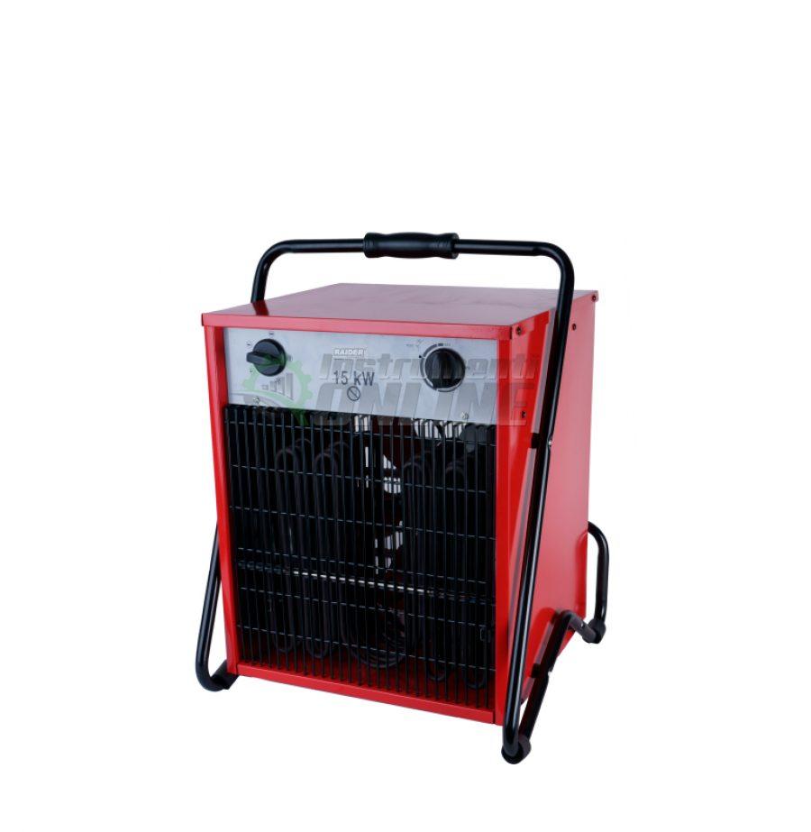 Електрически, калорифер, 15kW, RD-EFH15, Raider, електрически калорифер, калорифер 15kw