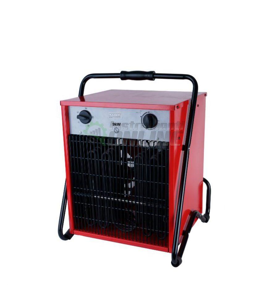 Електрически, калорифер, 9kW, RD-EFH09, Raider, електрически калорифер, калорифер 9kw