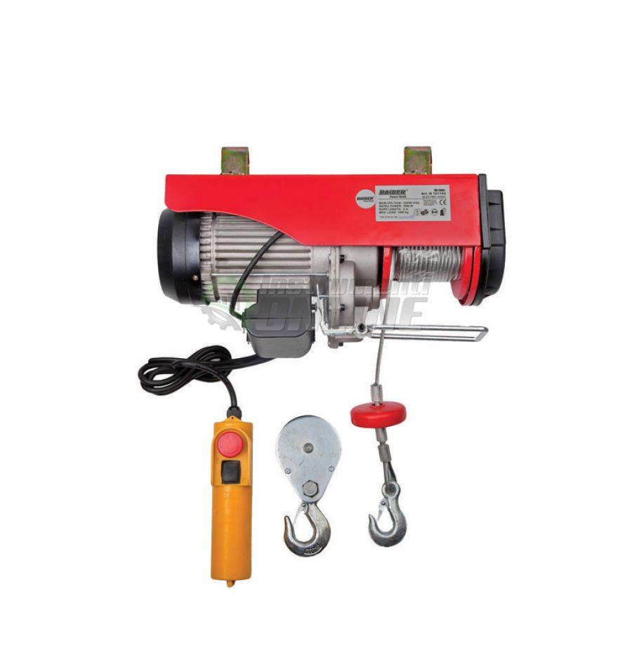 Електрически, телфер, 1000 кг, 6м, 1600W, RD-EH03, Raider, електрически телфер