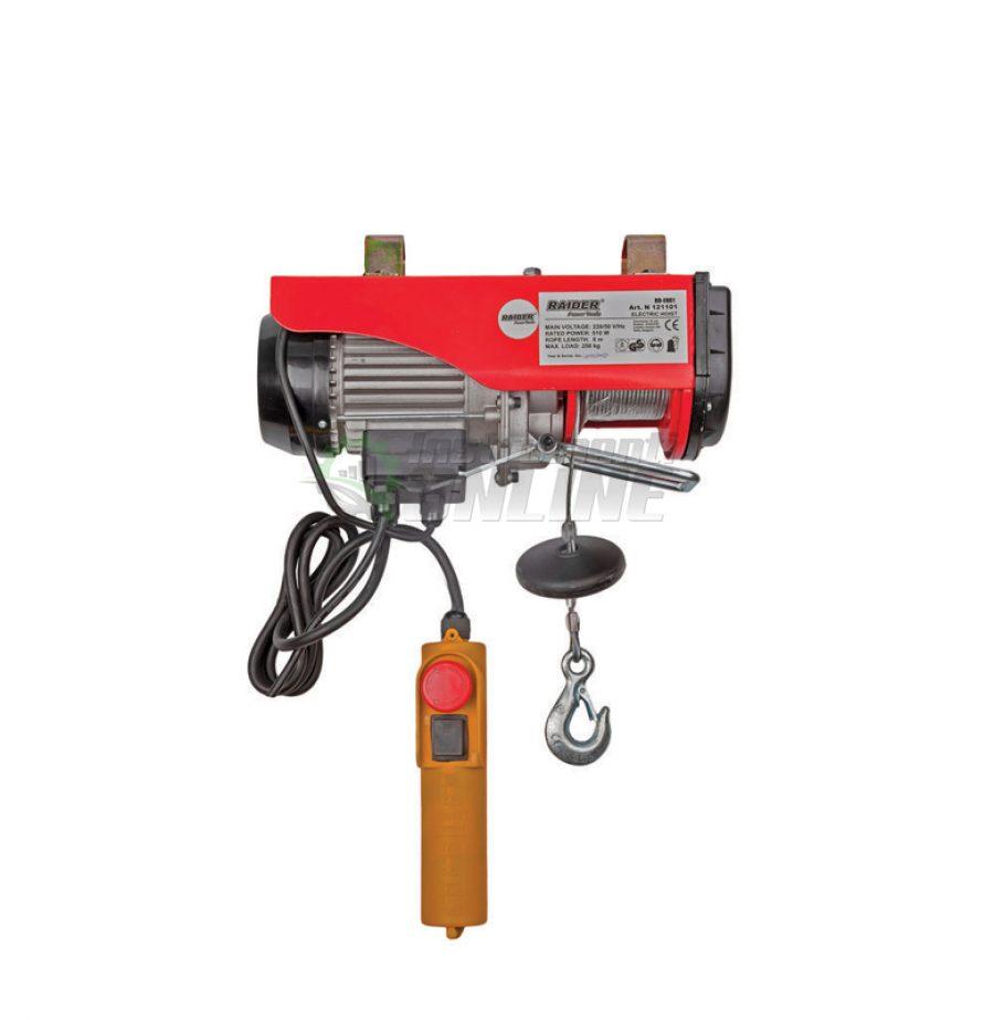 Електрически, телфер, 250 кг, 6м, 510W, RD-EH01, Raider, електрически телфер