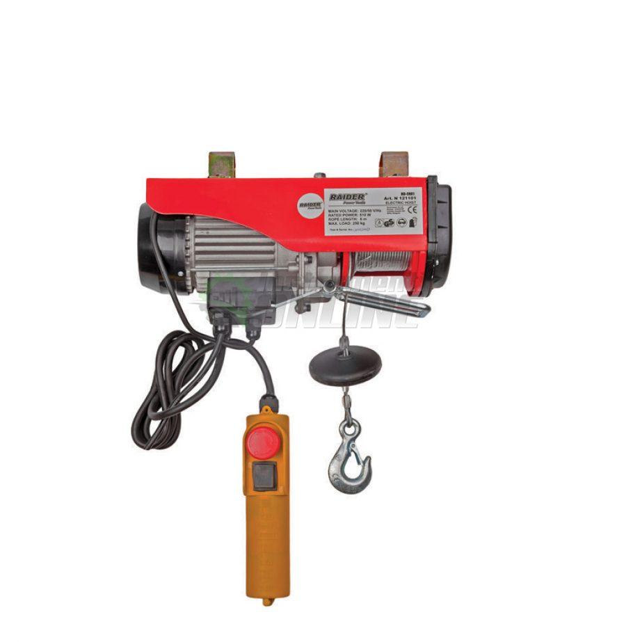 Електрически, телфер, 500 кг, 6м, 1020W, RD-EH02, Raider, електрически телфер