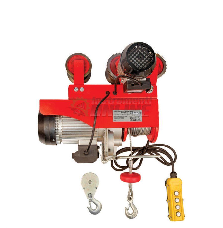 Електрически, телфер, подвижен, 1000кг, 6м, 1600W, RD-EH04, Raider, електрически телфер, подвижен телфер