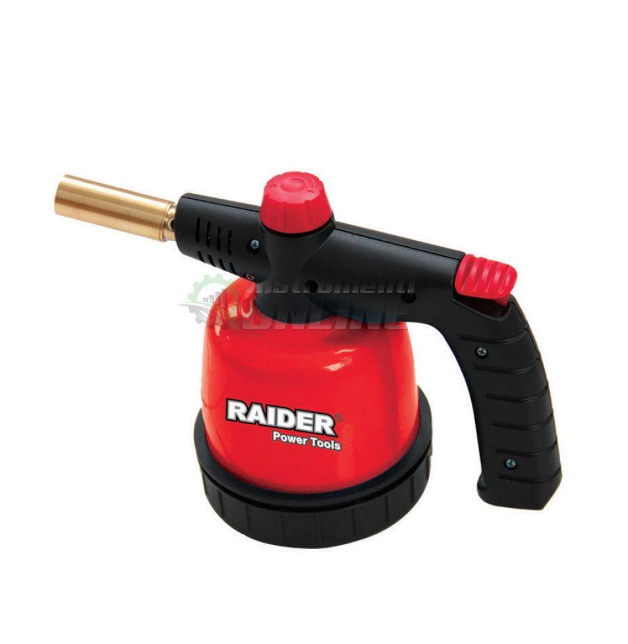Горелка, метална, за патрон, с пиезо, 190g, RD-BT02, Raider, горелка метална, горелка за патрон, горелка Raider