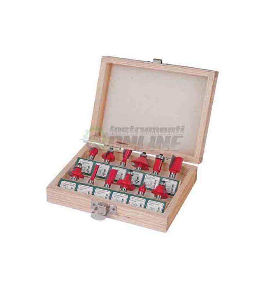 Комплект, 12 броя, фрезери, фрезери за оберфреза, 8 мм, Raider, фрезери Raider
