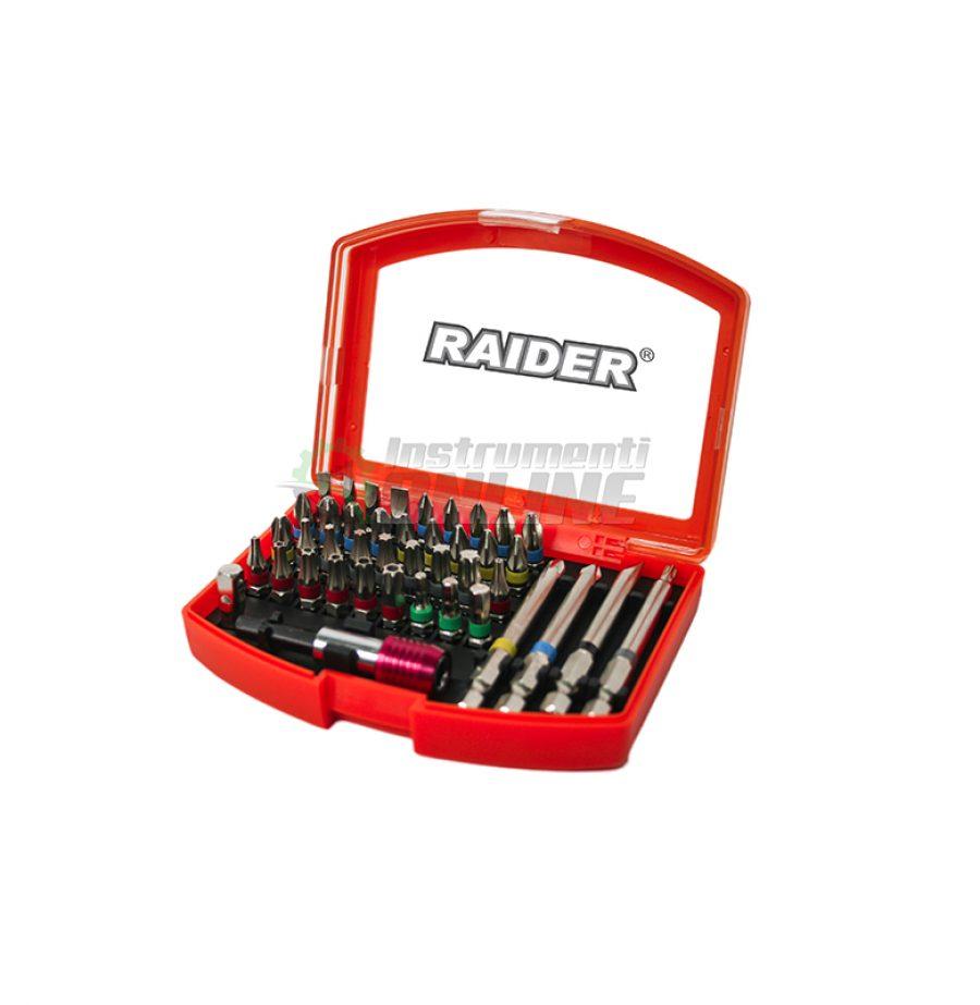 """Комплект накрайници, накрайници raider, 42 броя накрайници, накрайници, магнитен държач, бърз захват, 1/4"""", Raider"""