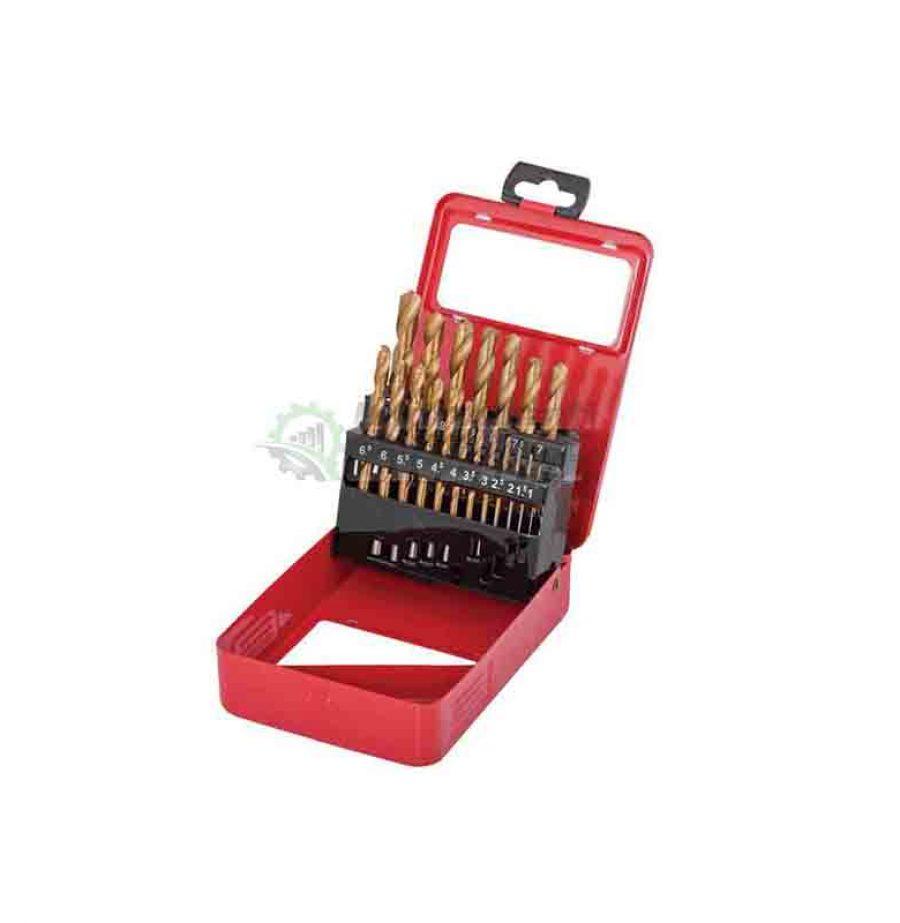 Комплект, 19 броя, свредла, свредла за метал, 1.0 - 10 мм, HSS, +TIN, Raider