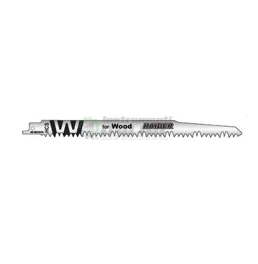 Комплект, 2 броя, ножове, саблевиден, трион за метал, 240 x 19 x 1.5 мм, 5.0 мм, RD-WS1531L, Raider