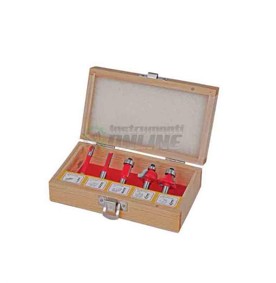 Комплект, 5 броя, фрезери, frezeri за оберфреза, 8 мм, Type С, Raider, фрезери Raider