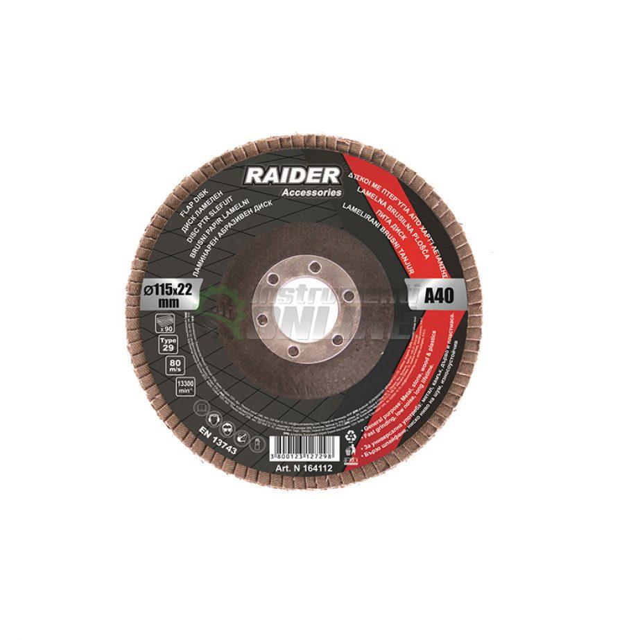 Ламелен диск, шлифовъчен диск, диск raider, диск 115 мм, А-60, Raider