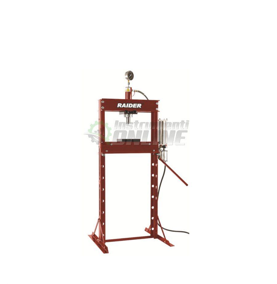 Пневматична, преса, манометър, 20 тона, RD-HP05, Raider, пневматична преса, преса с манометър, пневматична преса с нанометър