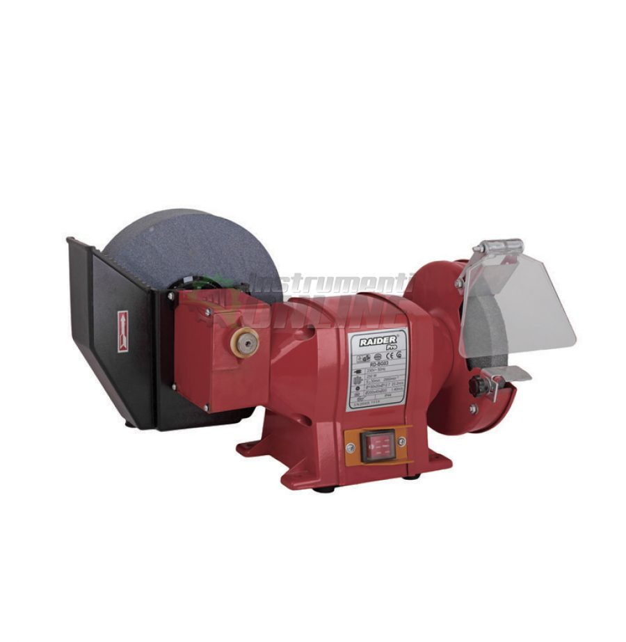 Редукторен шмиргел, 250W, 150-200 мм, RDP-BG03, Raider, редукторен, шмиргел