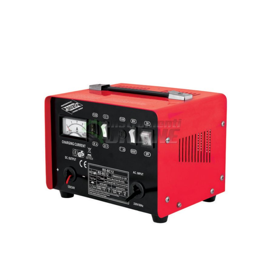 Зарядно, за акумулатор, 12/24V, 10A, RD-BC12, Raider, зарядно за акумулатор