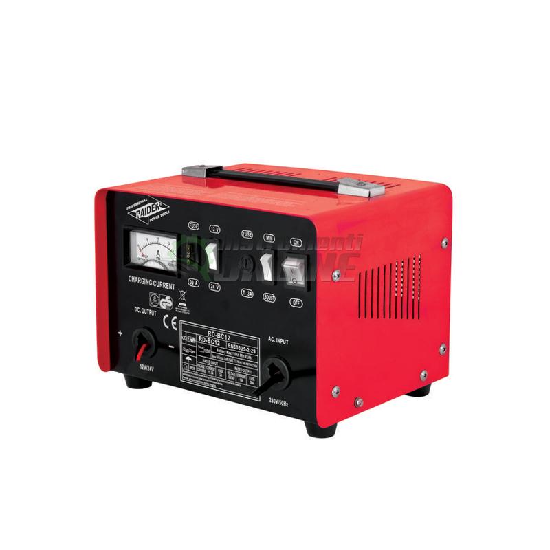 Зарядно за акумулатор 12/24V 10A RD-BC12 Raider